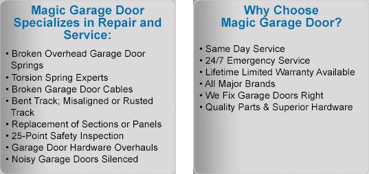 Magic Garage Door Benefits